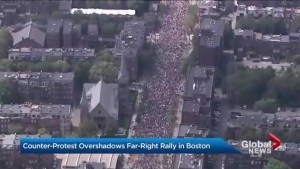 Streets of Boston filled with anti-hate speech protesters